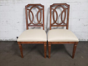 Solid Wood Hand Carved Luxury Side Chairs