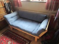 Futon Company Twingle sofa bed in Egyptian Blue