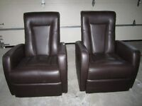 Reduced - Recliner Chairs x 2
