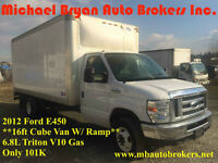 2012 FORD E450 16FT CUBE VAN **ONLY 101K* GREAT SPRING PRICE****