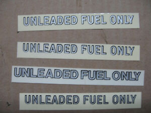 "GM Firebird Trans Am ""Unleaded Fuel Only"" Sticker \ Decal"