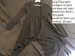 Long cardigans from Mark's gently used
