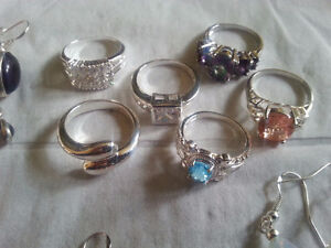 Silver rings / earrings and Gold filled