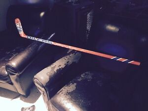 Air Brush Painted Right Handed Edmonton Oilers One Piece Stick