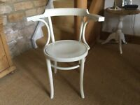 Lovely old painted Bentwood Carver Chair