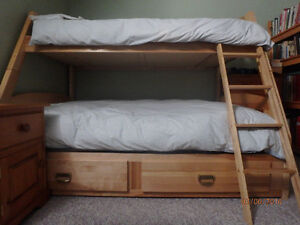 Twin over Double Storage Bunk Bed