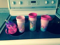 4 sippy cups