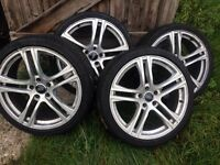 "Audi A4 rs alloys 19"" plus 4 great tyres"