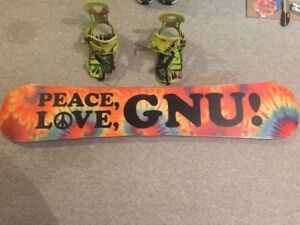 GNU Danny Kass Pro 152cm Snowboard With Ride Contraband Bindings