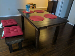 Eastern Kings Rustic Timber Table and Bench