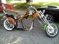 projet old school chopper harley