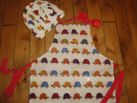 Turtle Apron and hat