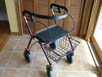 ROLLATOR WALKER WITH SLOW DOWN BRAKES