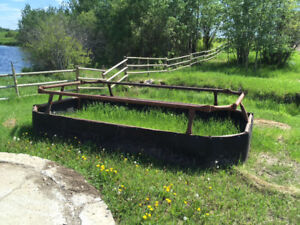 Steel Double Round Bale Feeders and Troughs for sale