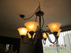 Summer is coming! 6 Alabaster Bell Shade Transitional Chandelier