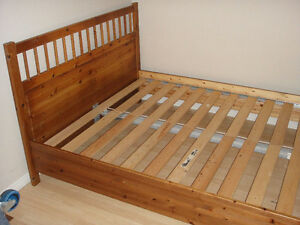 QUEEN SIZE BED FRAME IKEA IN EXCELLENT CONDITION MUST SEE !!!!