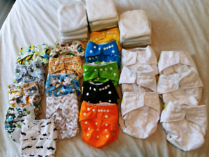 Reusable Cloth Diapers with Liners