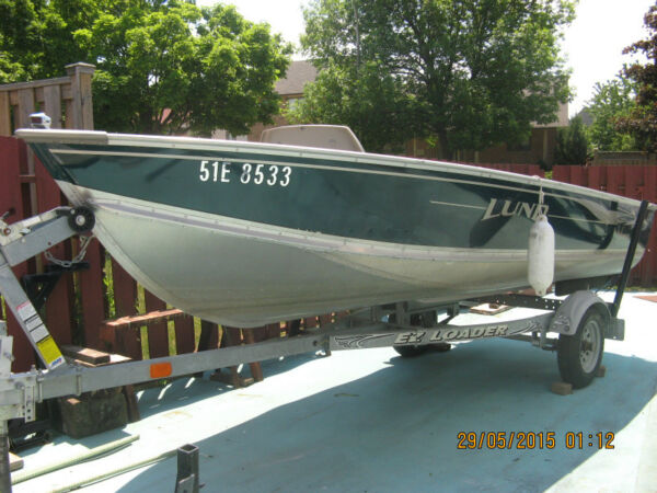 Used 2002 Lund Boat Co 2002 LUND 14 FOOT BOAT, MOTOR AND TRAILER