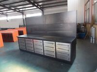 FREE shipping on new 10 ft Workbench with 20 Drawers + peg board