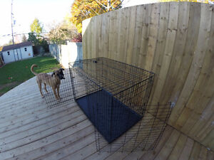 Large Dog cage crate kennel w/ Tray (BARELY USED)