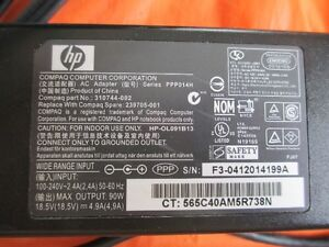 HP/Compaq Laptop Charger / power adaptor Model# PPP014H
