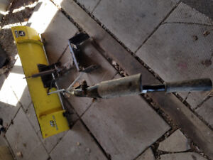 """John Deere riding mower 46"""" snow removal blade with attachments"""
