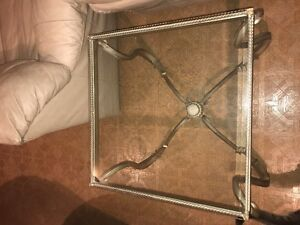 Beautiful Glass Coffee Table and End Table