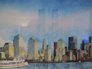 MEMORY of the TWIN TOWERS & NYC SKYLINE, by NICHOLAS SANTOLERI Kitchener / Waterloo Kitchener Area image 1