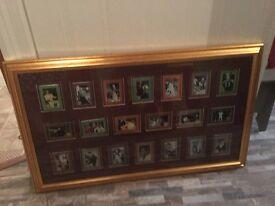 HUGE ELVIS PRESLEY TIN MOVIE CARDS.FRAMED.BOUGHT IN GRACELAND20, YEARS AGO.