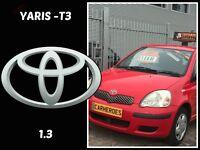 2003 TOYOTA YARIS T3 VTi 5DR+156,BMW Z3,SUZUKI,SKODA,RENAULT,VAUXHALL,FORD,HONDA,FIAT,PEUGEOT,ESTATE