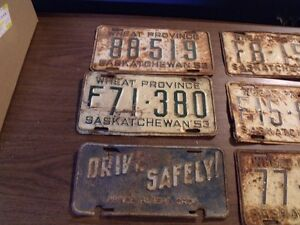 1950's SASKATCHEWAN LICENSE PLATES