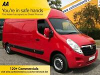 2014/ 14 Vauxhall Movano F3500 CDTI L3 H3 LWB MAXI ROOF VAN A/con Cruise