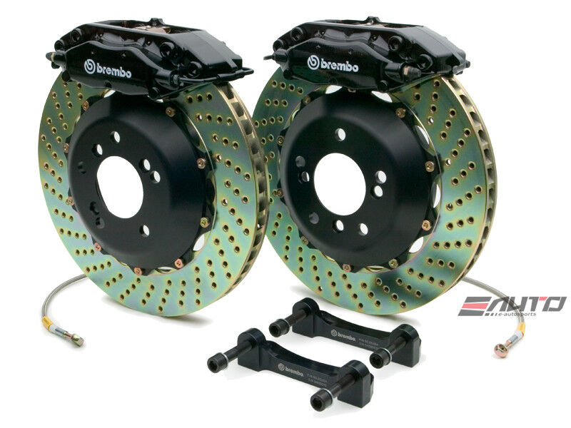 Brembo Rear Gt Brake 4pot Black 345x28 Drill Disc E63 E550 E55 E500 E350 E320