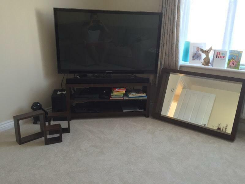 Matching Tv Stand Mirror And 3 Square Shelves United