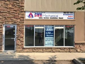 For Lease 2250 Sq. Shop with Mezzanine