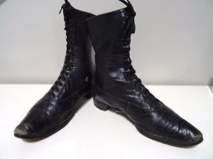 steampunk 1800s VICTORIAN lace-up boots LADIES real deal  WITCH