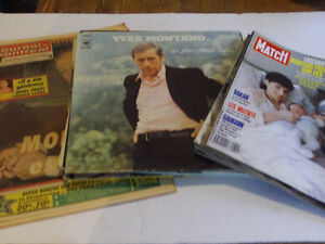 SUPER LOT DE 13 ARTICLES DE L'ACTEUR FRANCAIS YVES MONTAND