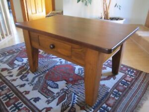 True North Coffee Table With Pull-Through Drawer