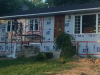 Handyman framing drywall tile siding