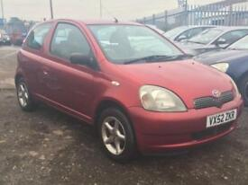 2002/52 Toyota Yaris 1.0 VVTi Red Colour Collection LONG MOT EXCELLENT RUNNER