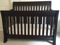 Bonavita Metro Lifestyle Convertible Crib and Combo in Licorice