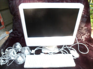 APPLE iMAC POWER PC G5 model # A1076 all-in-one computer
