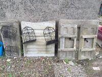 Two concrete cast coal bunkers