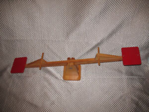 Wooden Childrens Teeter-Totter See-Saw made by CRAMA - Only $60!