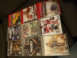 Lots de jeux de PS3 - 10$ Chaque (Call of duty etc)