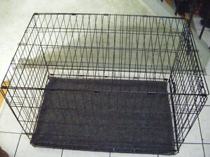 LARGE FOLD ABLE METAL DOG CRATE FOR SALE