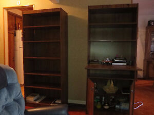 2 BOOKCASES/DISPLAY CABINETS