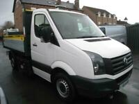 2014 Volkswagen Crafter 2.0 TDI T30 S 140 BHP SINGLE CAB TIPPER CHASSIS CAB Dies