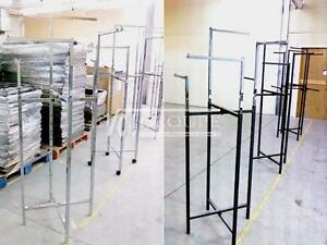 SUPER SPECIAL $50.00 ~ PRESENTOIRS DE VETEMENTS À 4 BRAS ~ PLIABLE / 4 WAY ( CLOTHING / GARMENT ) RACKS ~ COLLAPSIBLE