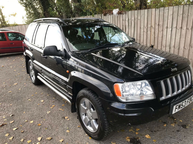 2003 53 jeep grand cherokee 4 0 auto limited 4x4 auto 24 6 mpg px in hinckley leicestershire. Black Bedroom Furniture Sets. Home Design Ideas